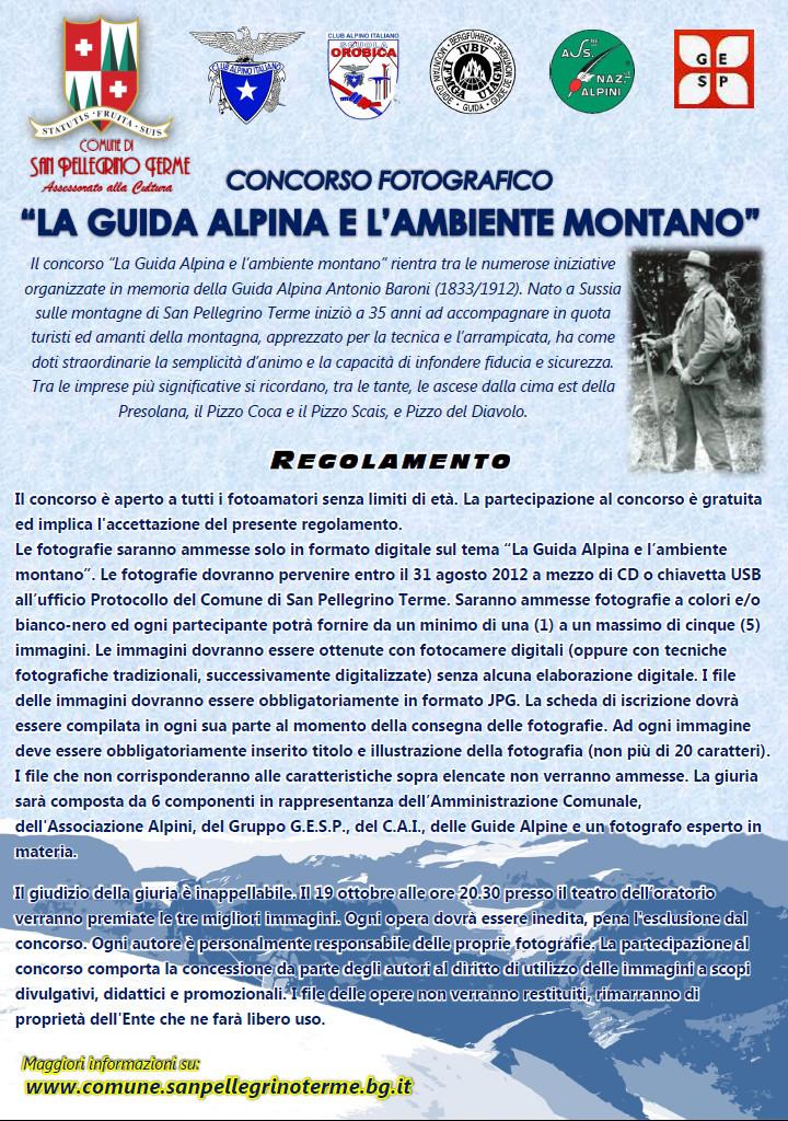 """Concorso fotografico """"La Guida Alpina e l'Ambiente Montano"""""""
