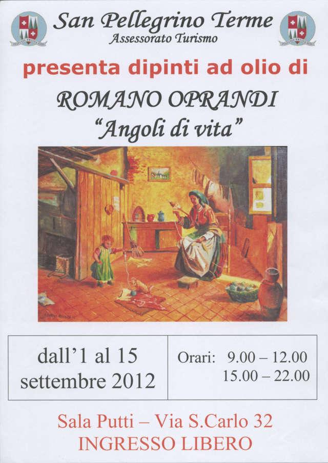 """Mostra di pittura di ROMANO OPRANDI - """"Angoli di vita"""""""