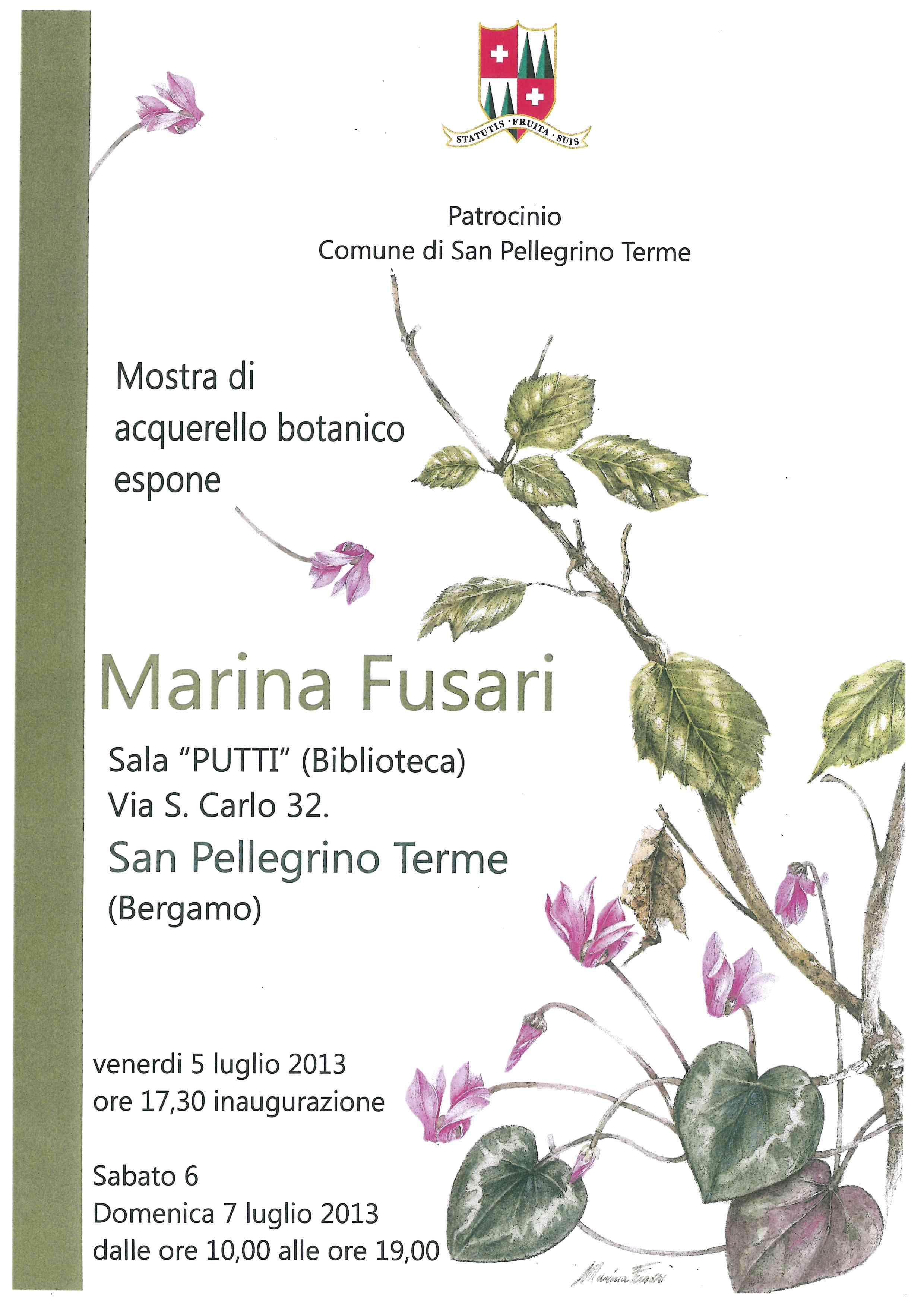 Marina Fusari - Mostra di acquerello botanico