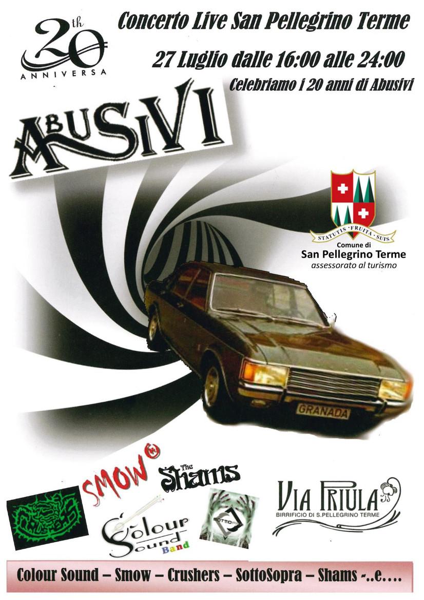 """20° anniversario Gruppo Musicale """"ABUSIVI"""""""