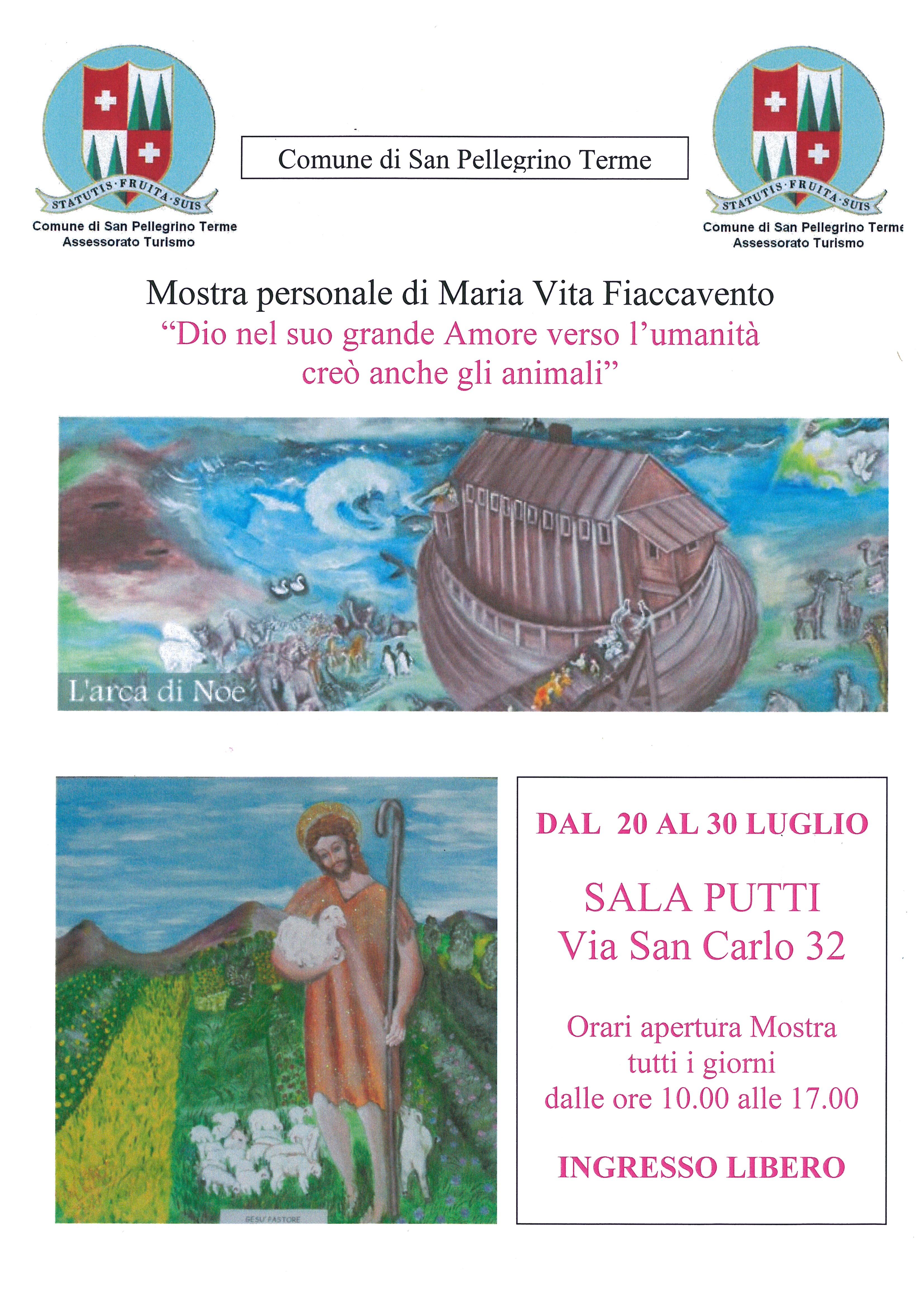 Mostra Personale di quadri di Maria Vita FIACCAVENTO