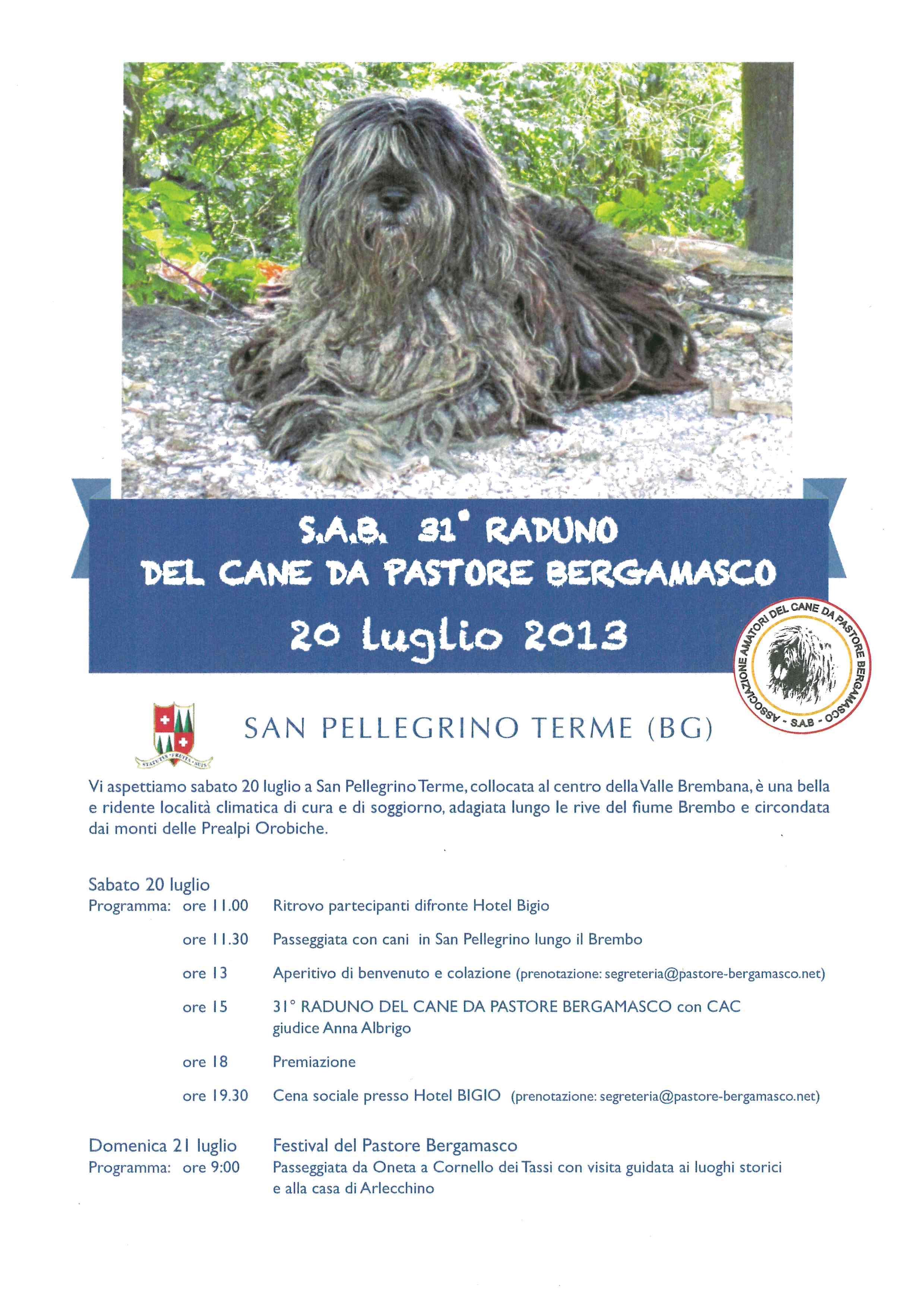 31° Raduno del Cane da Pastore Bergamasco
