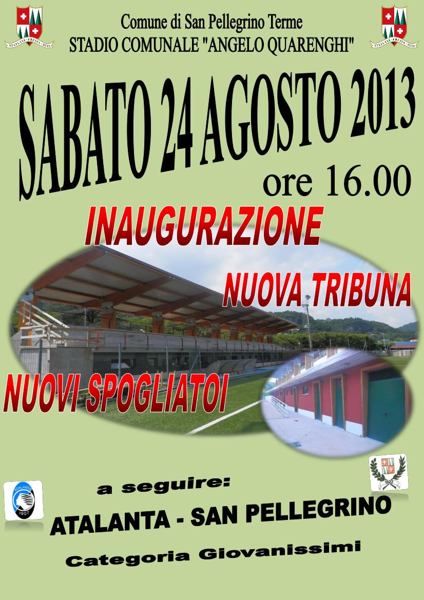 Inaugurazione Nuova Tribuna Stadio Comunale Angelo Quarenghi