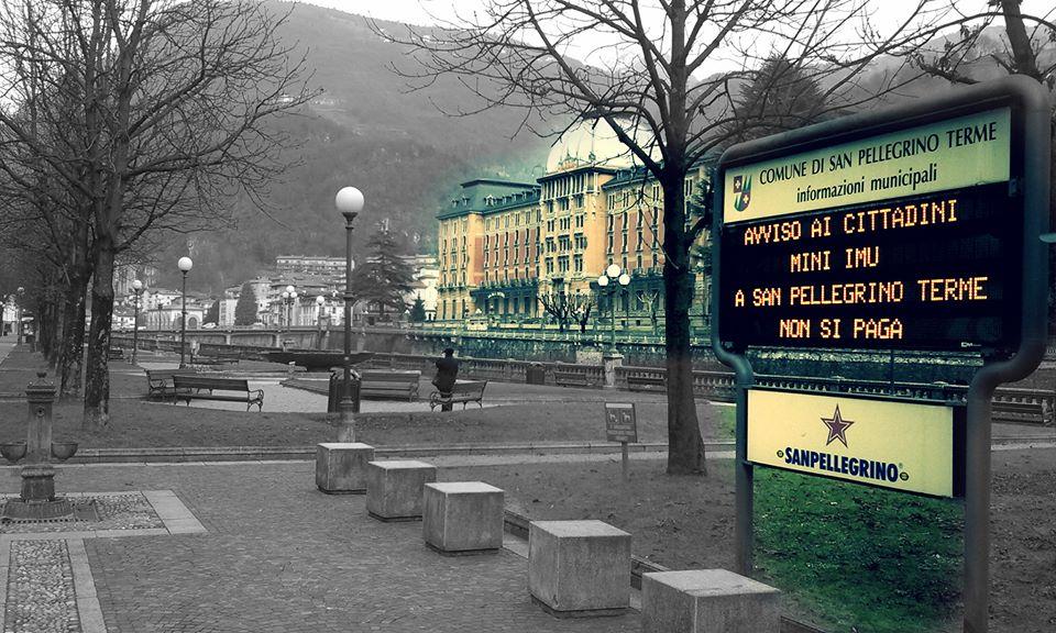 Mini IMU: a San Pellegrino Terme NON si paga!