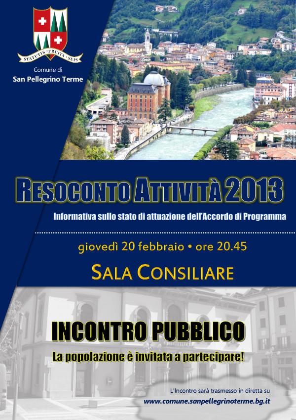 Incontro Pubblico - Resoconto attività 2013