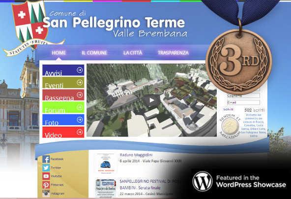 """Il sito web di """"San Pellegrino Terme"""" in showcase WordPress: 1°classificato!"""