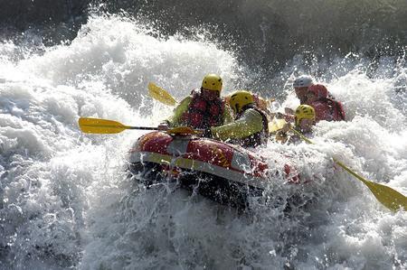 Rafting sul fiume Brembo