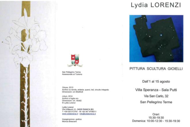 Mostra Pittura Scultura LIDYA LORENZI