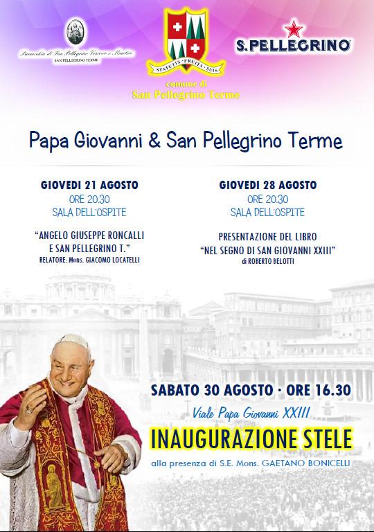 Papa Giovanni & San Pellegrino Terme - Inaugurazione Stele
